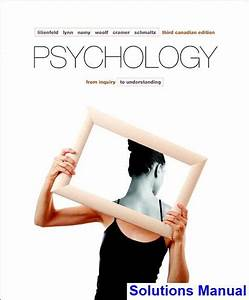 Psychology From Inquiry To Understanding Canadian 3rd