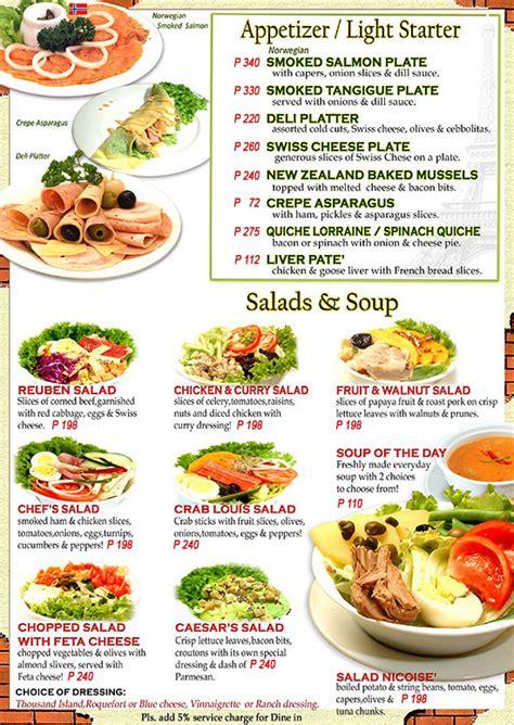 menu almon marina sandwich bar  deli