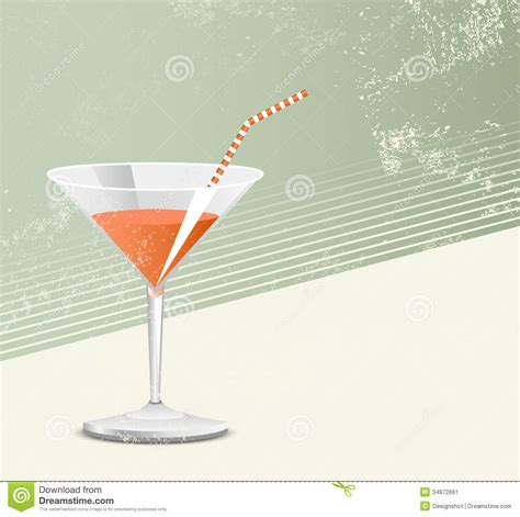 vintage cocktail cocktail glass retro style stock image image 34872661
