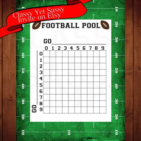 football pool football party game