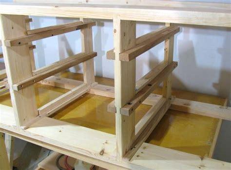 nenny wood workbench  drawers diy