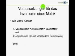 Inverse Berechnen Matrix : inverse matrizen und determinanten mathematik online lernen ~ Themetempest.com Abrechnung