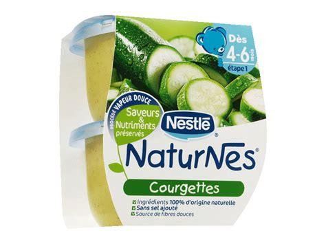 petits pots naturnes courgettes des 4 6 mois 2x130g tous les produits repas b 233 b 233 prixing
