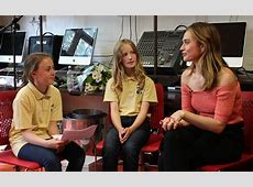 Ivy and Charlotte interview Lily James Brecknock Primary