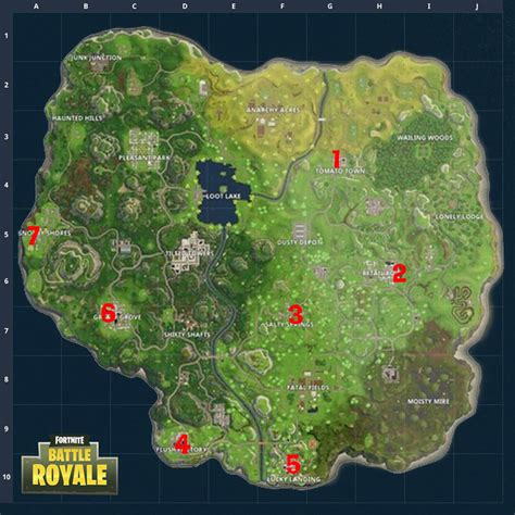fortnite week  challenges  hidden gnome locations