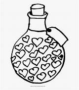 Potion Coloring Amor Imagines Para Colorear Clipart Clipartkey sketch template