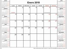 Enero Calendario 2018 Related Keywords Enero Calendario