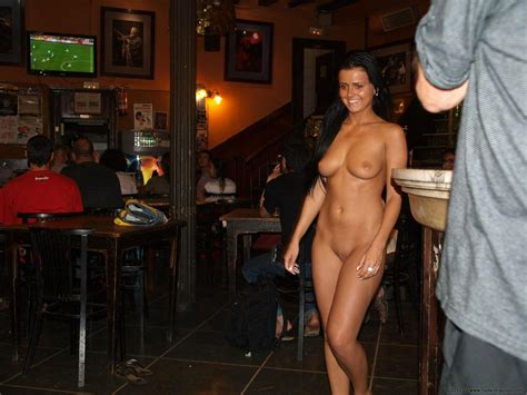 Fetish Girls Fully Naked In Public Hotel Bar Restaurant