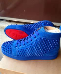Shorts Red Bottom Louboutin Royal Blue Spikes Shoes