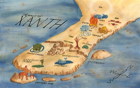 brittany roger illustration map  xanth