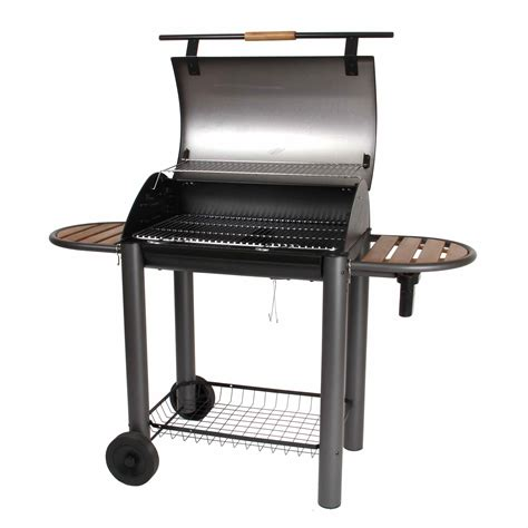 barbecue a charbon avec couvercle barbecue charbon en fonte sur chariot avec couvercle bayamo turbomagic somagic port offert