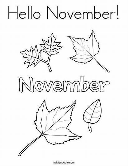 November Coloring Hello Twisty Pages Noodle Twistynoodle
