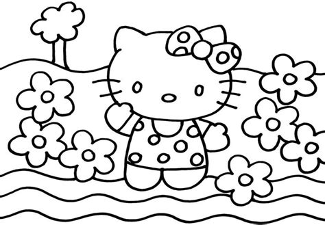 Printable Coloring Sheets Cartoon Hello Kitty Boys Girls