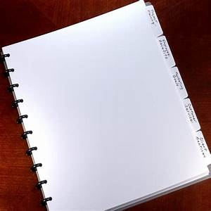 circa plastic 5 tab dividers white letter colored With notebook with letter tabs