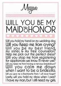 131 best images about will you be my on pinterest With maid of honor proposal letter