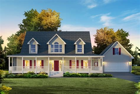 Two Story House With Wrap Around Porch by Floor Plans Custom Homes