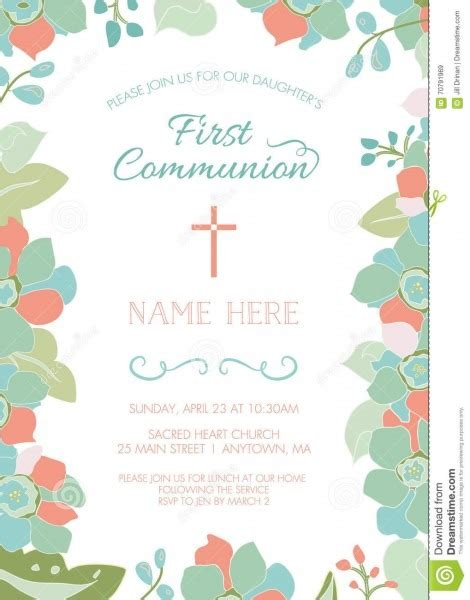 Baptism Invitation Vector