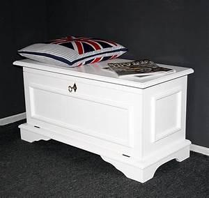 Wäschetruhe Holz Weiß : holztruhe wei sitztruhe aussteuertruhe schuhtruhe brauttruhe holz massiv ~ Indierocktalk.com Haus und Dekorationen