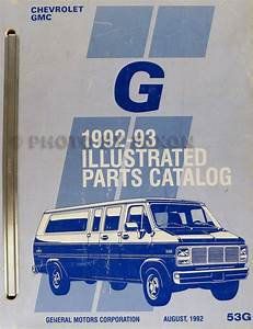 1993 Gmc G Van  Vandura  Rally Wiring Diagram Manual Original