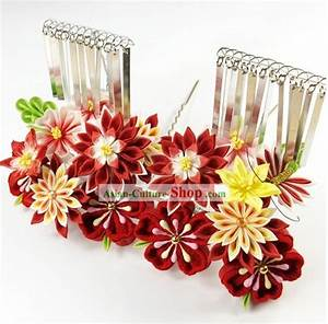 Japanese Kimono Hair Decoration Flower Set