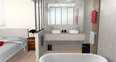 chambre avec salle de bain stunning chambre avec salle de bain verriere ideas