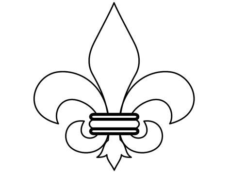 Fleur De Lis Printable Stencil Clipart Best