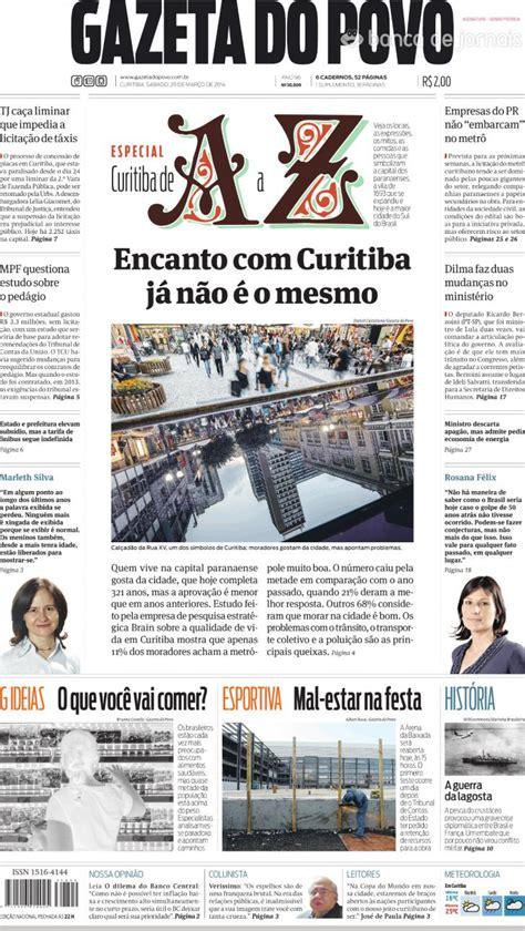 Capa - Gazeta do Povo de 2014-03-29