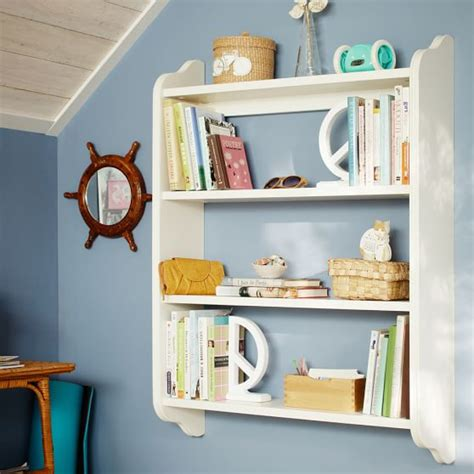 Bookcase Board by Beadboard Wall Bookshelves Pottery Barn