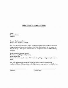 Attestation Letter Format  Best Template Collection