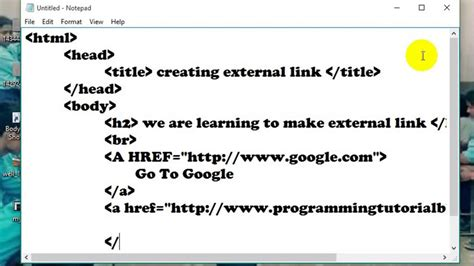 Anchor Tag External Link With Example Html Nepali