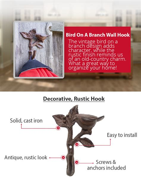 Amazon Bird Branch Single Wall Hook Hanger