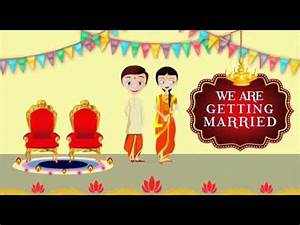best animated wedding invitation for whatsapp youtube With wedding invitation animation maker