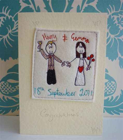 personalised wedding card  seabright designs