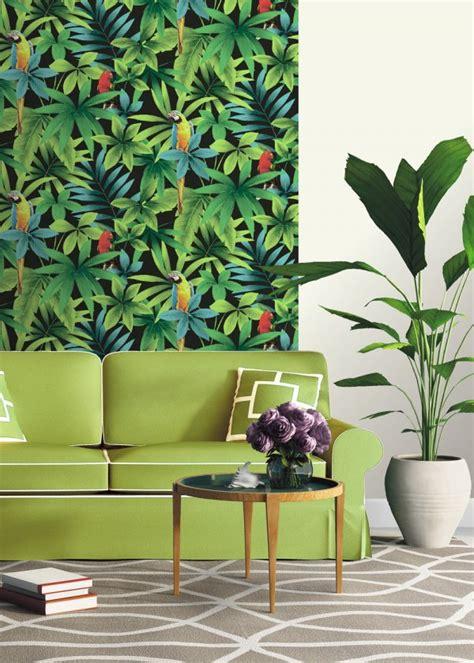 deco chambre exotique papier peint tropical notre sélection pour une déco