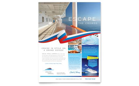 cruise travel flyer template word publisher