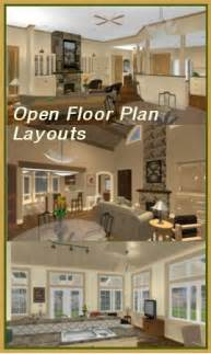 open floor plan home plans single story house plans