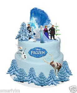 Frozen Figure Glitter Isi 6pcs frozen cake set stands up figures toppers wafer diy