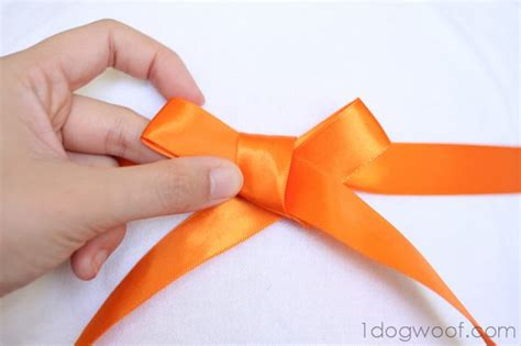 how to tie a bow with ribbon how to tie a beautiful ribbon bow one dog woof