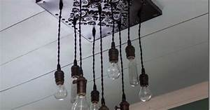 How To Make A Bare Edison Bulb Chandelier