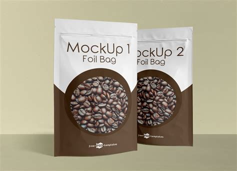 Free for personal and commercial use zip file includes. Free Stand-Up Foil Pouch For Food Packaging Mockup PSD Set ...