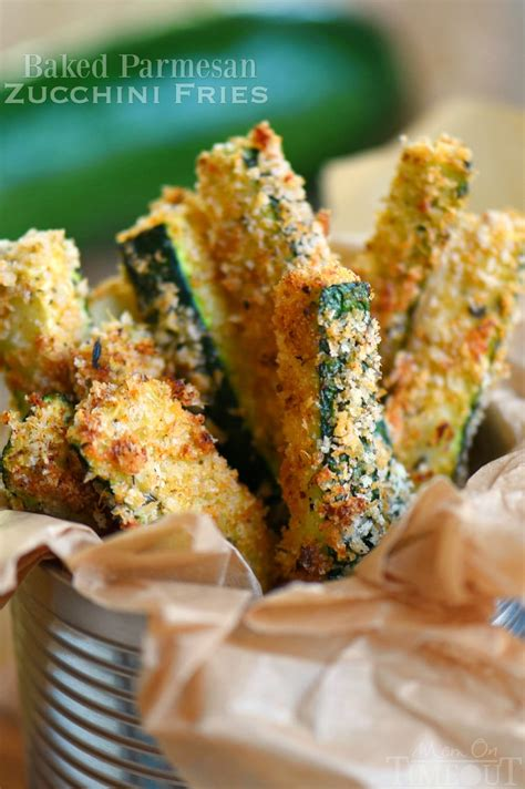 baked parmesan zucchini fries mom  timeout