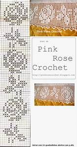 Pink Rose Crochet  Barrado Rosas Perfeita Em Croch U00ea Fil U00ea