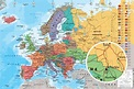POLITICAL MAP OF EUROPE - POSTER (ENGLISH VERSION MAP ...