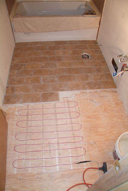 heated travertine floor build   home travertine