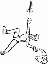 Coloring Fencing Gymnastics Mountain Climber Advertisement Colouring Sport Coloringpagebook sketch template