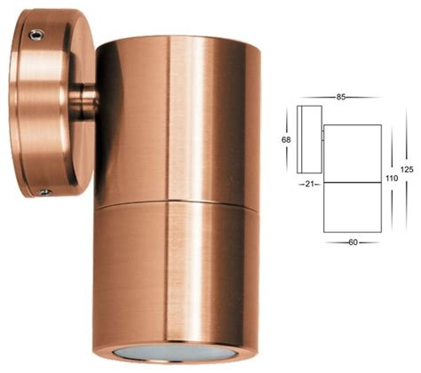 hv1115 solid copper single fixed led wall light