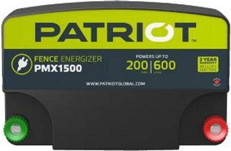 Patriot Pmx Electric Fence Charger Energizer Joule