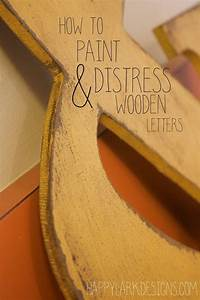 paint wooden letters on pinterest initial door letters With how to put pictures on wood letters