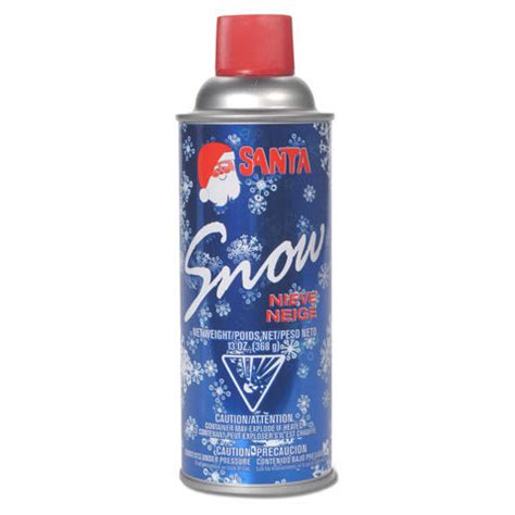 santa spray snow aerosol can nieve neige 13 oz