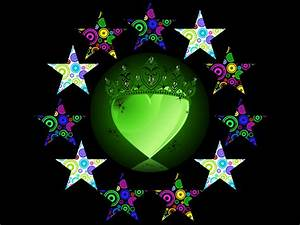 The gallery for --> Neon Hearts And Stars Backgrounds